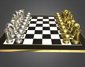 sport 3D model Chess set