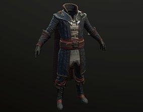 battle mage clothing 3D asset
