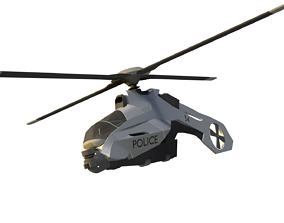 3D model police helicopter