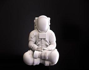 Astronaut meditating 3D printable model