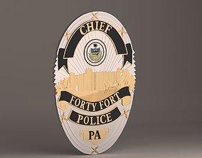 Forty Fort Police Badge 3D printable model