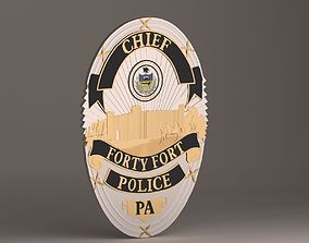 Forty Fort Police Badge 3D printable model
