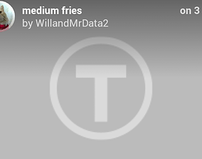 3D printable model Medium fries