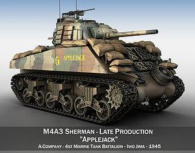 M4A3 Sherman - Applejack 3D wwii