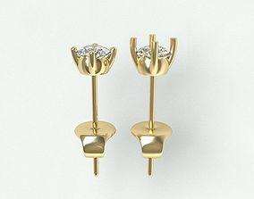 Earrings-6mmgem 3D printable model