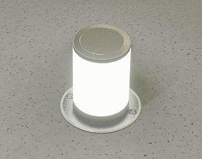 Low-Poly Basic Light Column 4 - Street Light 3D model 1