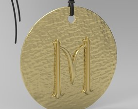 3D print model Alphabet Latin M latin