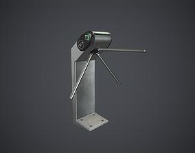 Security Turnstile 3 PBR Game Ready 3D asset