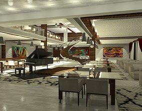 Restaurant of a Five Star Hotel 3D model