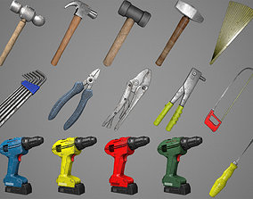 Simple Hand Tools Pack 3D model