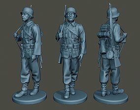 German soldier ww2 walk G1 3D printable model