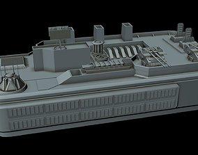 3D model Sci-fi Anti air gun post