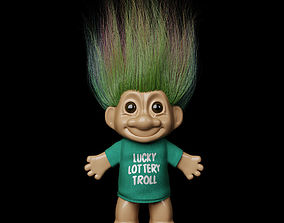 character 3D model Lucky Lottery Troll