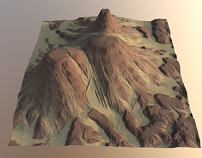 3D model Eroded Desert Cliffs