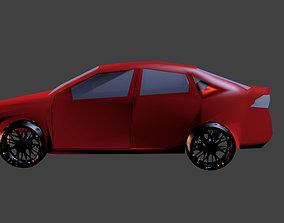 3D asset Dodge Dart GT 2013 no interior