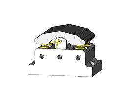 3D printable model DPDT Momentary Screw Switch