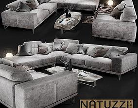 Sofa NATUZZI Italo 2983 grey 3D model