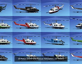 3D 39 Police Search and Rescue Helicopters