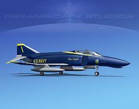 3D model McDonnell Douglas F-4J Phantom II USN Blue Angels