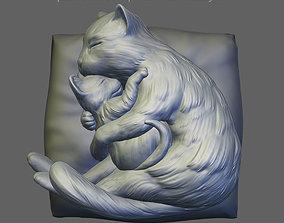 Mommy cat 3D print model