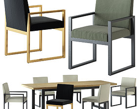 HARBOUR BAROSSA DINING CHAIR AND TABLE 3D model