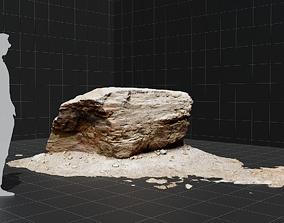 low-poly 3d scanned rock - 026