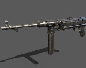 3D asset MP40 Submachine gun