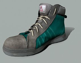 realtime Boot 3D model lowpoly