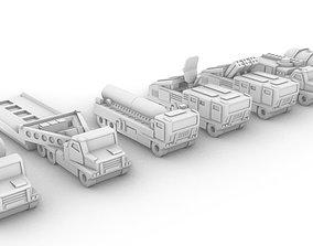 Miniature Trucks Pack 3D printable model