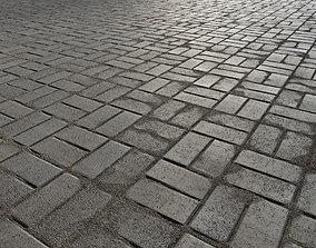 3D model Paving bricks