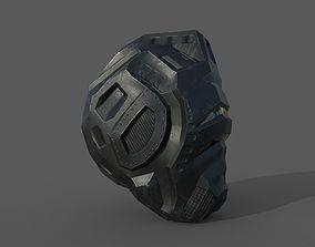 Sci-Fi Robotic Helmet 3D model VR / AR ready