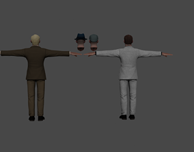 realtime Detective Character Noir 3d model
