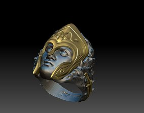 3D printable model greek warior ring sparta ring