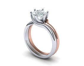 6 prong bypass Engagement ring N0198 3D print model
