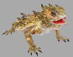 3D asset Lizard Low Polygon Art Reptile Animal models