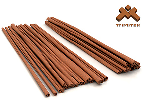 3D Cinnamon sticks