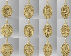 3D printable model jewellery horoscope signes pack zodiac