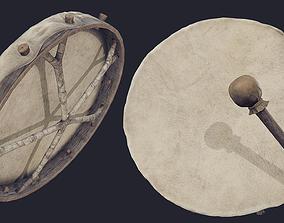Nordic Shaman Drum 3D model