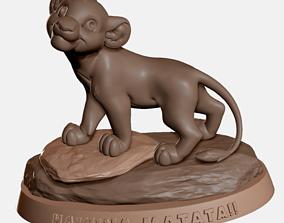 Simba The Lion King - Hakuna Matata 3D print ready 1