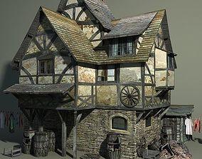 Medieval Slum 3D asset