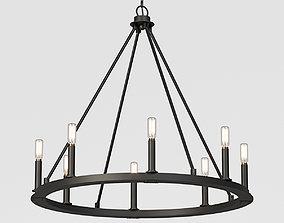 3D loft Minimalist Iron Ring Chandelier 8 Light