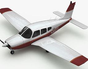 3D Piper PA-28 Cherokee Arrow