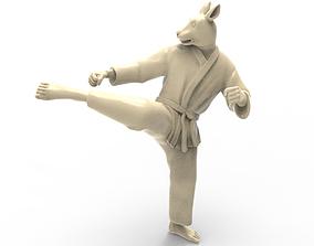 Rabbit Roundhouse Kick 3D print model