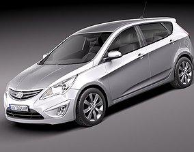 Hyundai Accent hatchback 2012 2015 3D model