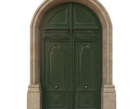 3D Entrance classic door 13