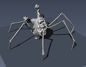 The Thing Spider head 3rd scale 3D printable model
