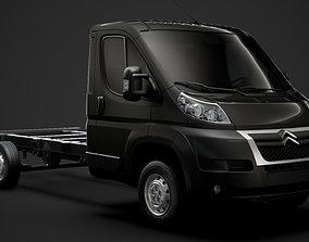 3D Citroen Jumper Chassis Truck Single Cab 3800WB 2014