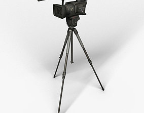 Camera on the tripod 3D model