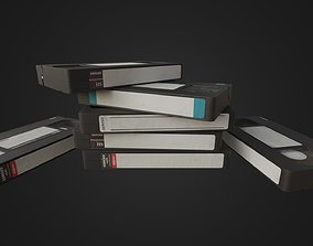 Old dirty VHS Tape 3D asset