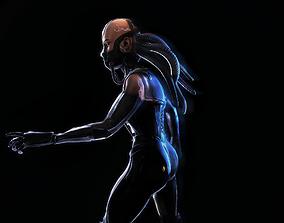 3D Female Cyborg character